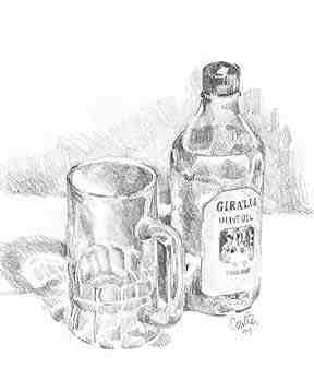 Pencil rendering of glass